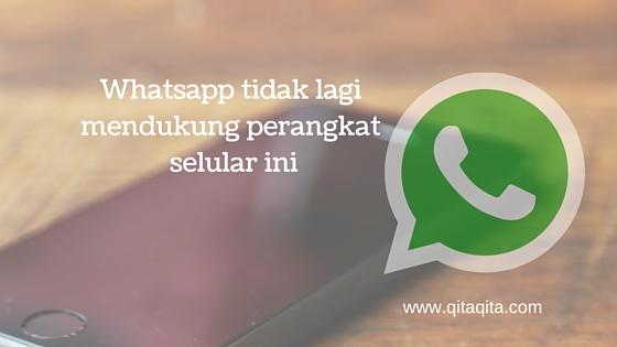 Whatsapp tidak lagi mendukung perangkat selular ini