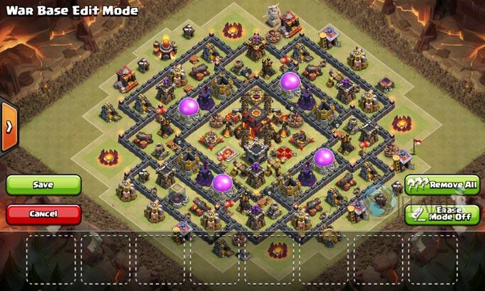 Desain Base Pertahanan Terbaik Untuk Base War TH 10 Update Terbaru 21