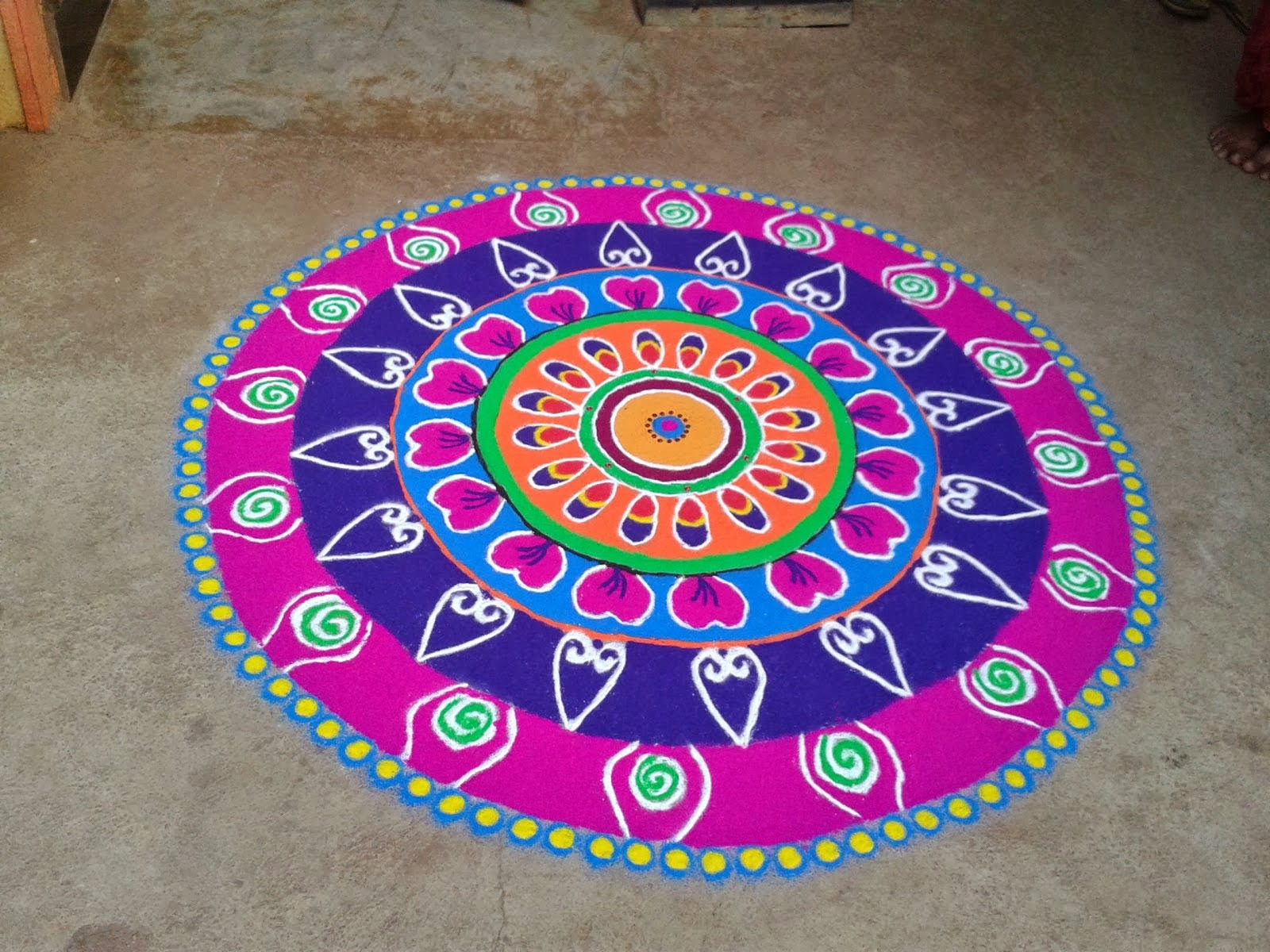 Rangoli Designs in Circle