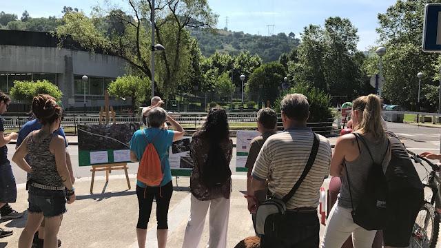 Movilización sobre la Variante Sur Ferroviaria por la plataforma vecinal y ecologista Barakaldo Naturala