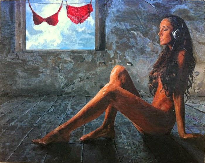 Акриловые картины в жанре ню. C. S. McNeil