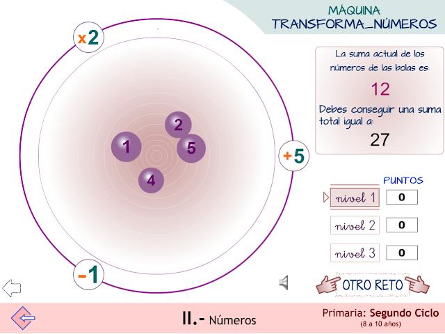 """Máquina """"transforma_números"""". Cálculo estratégico."""
