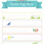 FILL IN THE BLANK - Easter Egg Hunt Clue Printables