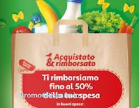Logo Auchan ''Acquistato & Rimborsato'': ricevi fino al 50% di rimborso della tua spesa
