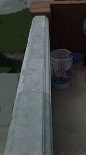 To repaint the cement balcony the paint was stripped off
