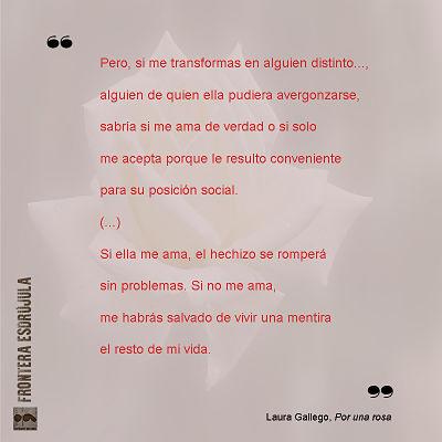 Por una rosa- Laura Gallego- reseña