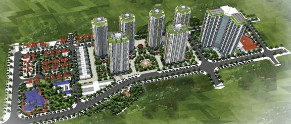 Phối cảnh tổng thể Mipec View City Kiến Hưng