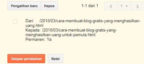 Cara Pengalihan Khusus dari URL Artikel Blog yang Dihapus ke URL Artikel Pengganti