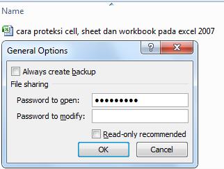 input password to open