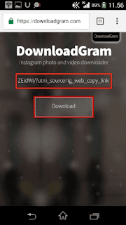 cara mudah download video instagram