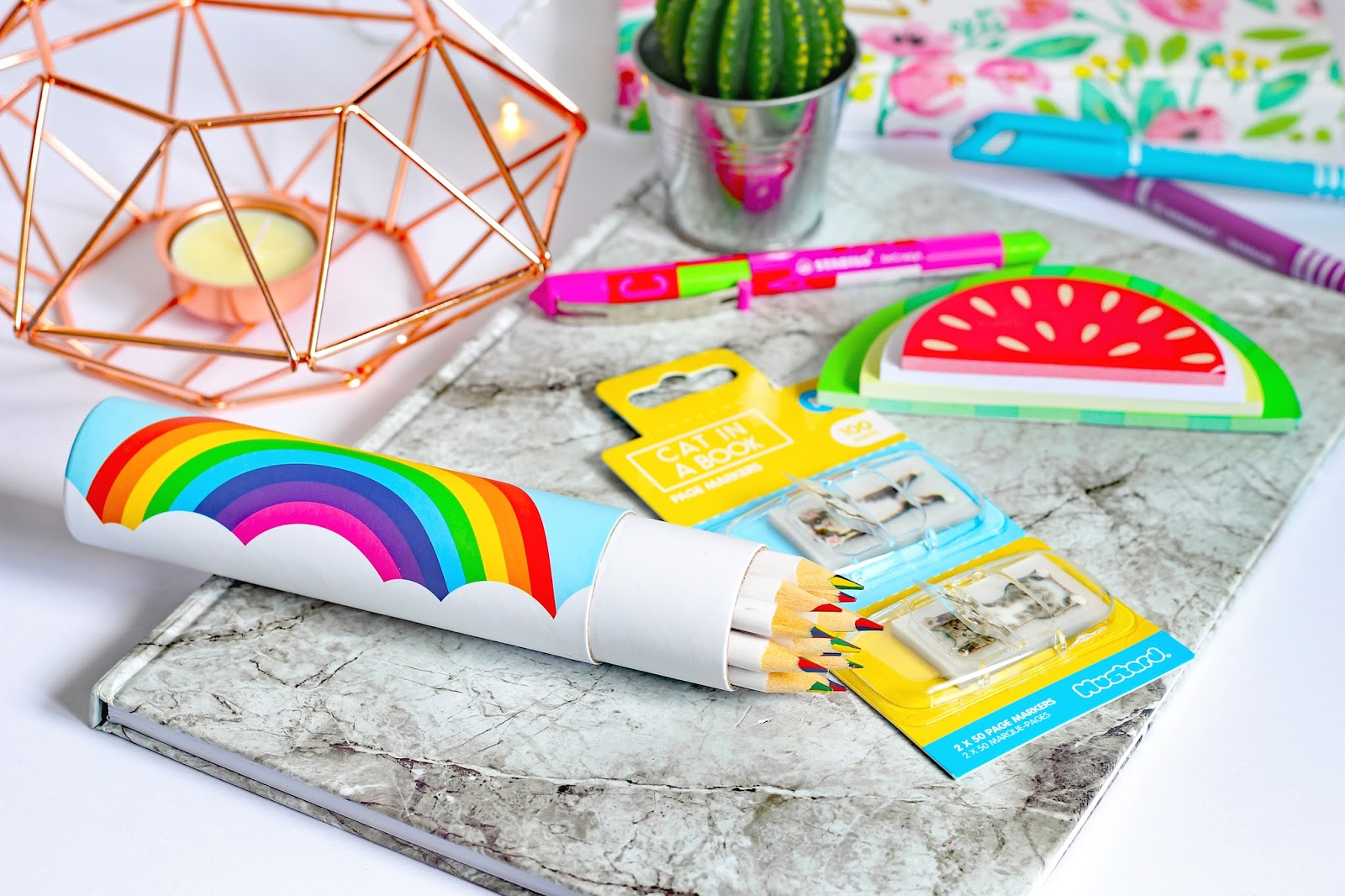 Why I Love Stationery And How It Benefits My Mental Health national week rainbow pencils mustard gifts notebooks love happiness sticky notes pen cute gifts