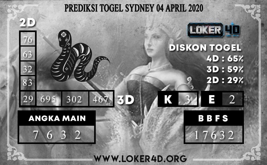 PREDIKSI TOGEL  SYDNEY LOKER4D 04 APRIL 2020