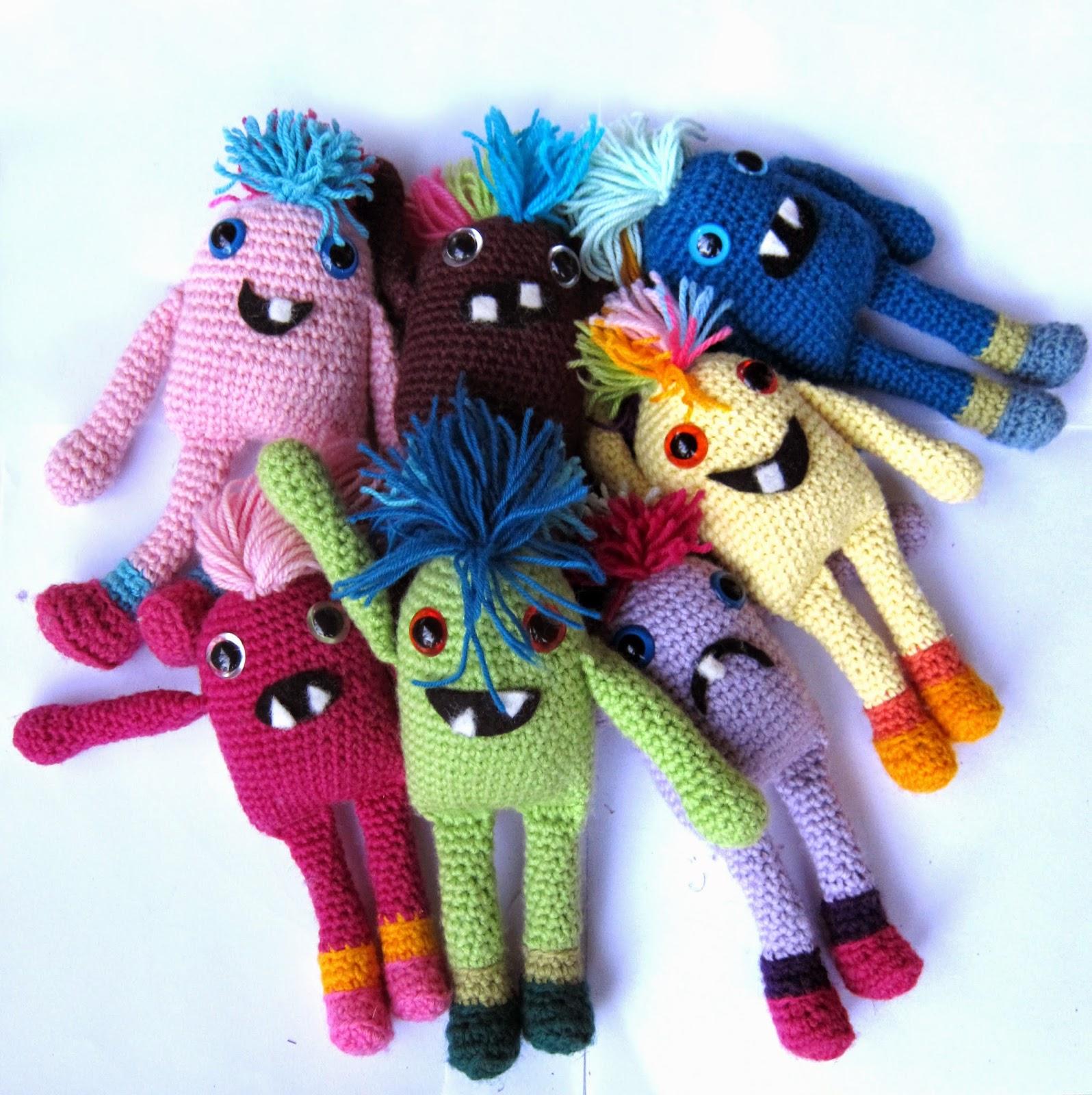DMC Crochet Amigurumi Pattern - Mini Monsters - AMAZING CRAFT | 1600x1596