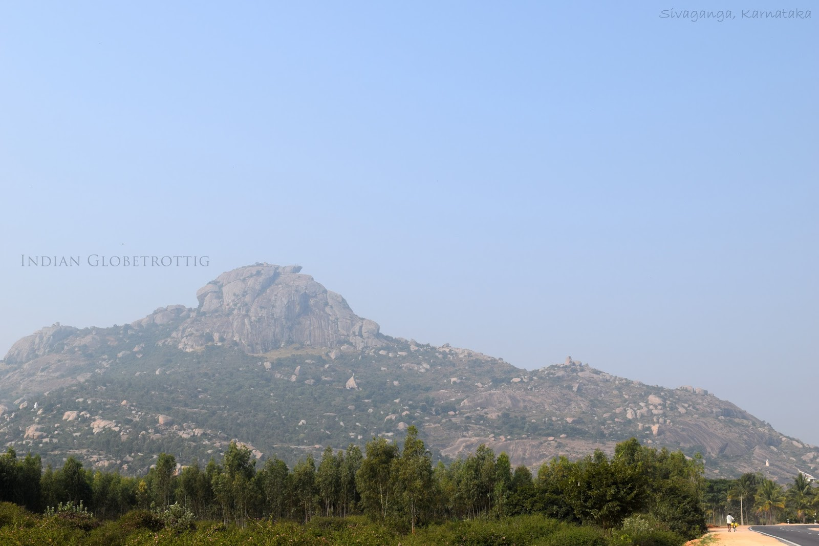 Long view of Shivaganga Hill