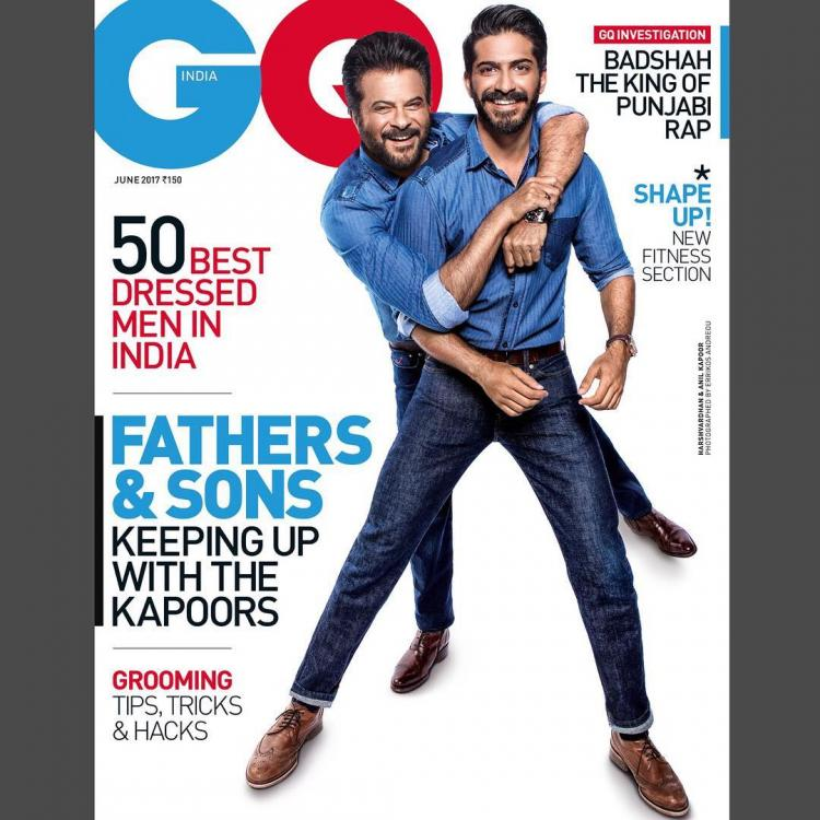 Anil and Harshvardhan Kapoor on The Cover of GQ Magazine June 2017