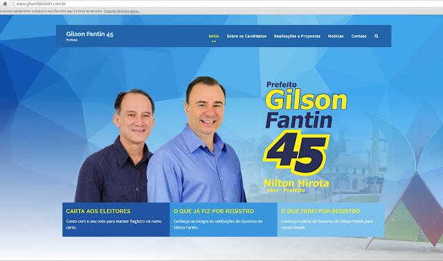 Gilson Fantin tem novo canal de comunicação na internet