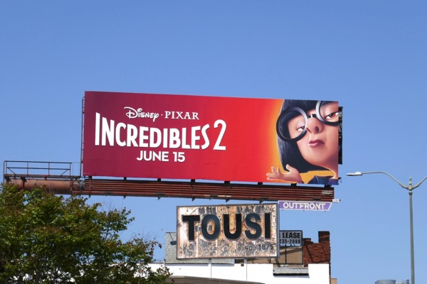 Incredibles 2 Edna Mode billboard