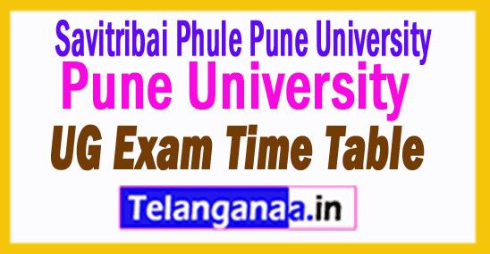 Pune University UG Exam Time Table