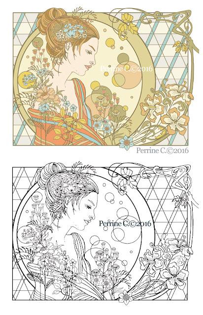 Complainte amoureuse / coloriage / Perrine Cras-Jacumin