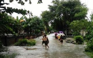 Banjir di Sukadamai, 32 KK Diungsikan