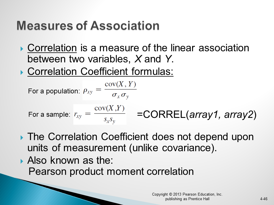 pearson product moment correlation coefficient