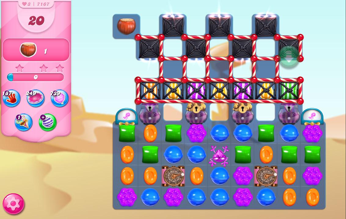 Candy Crush Saga level 7167