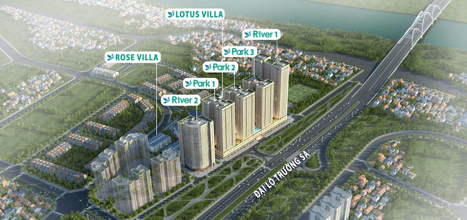 Phối cảnh dự án chung cư Eurowindow River Park Đông Hội