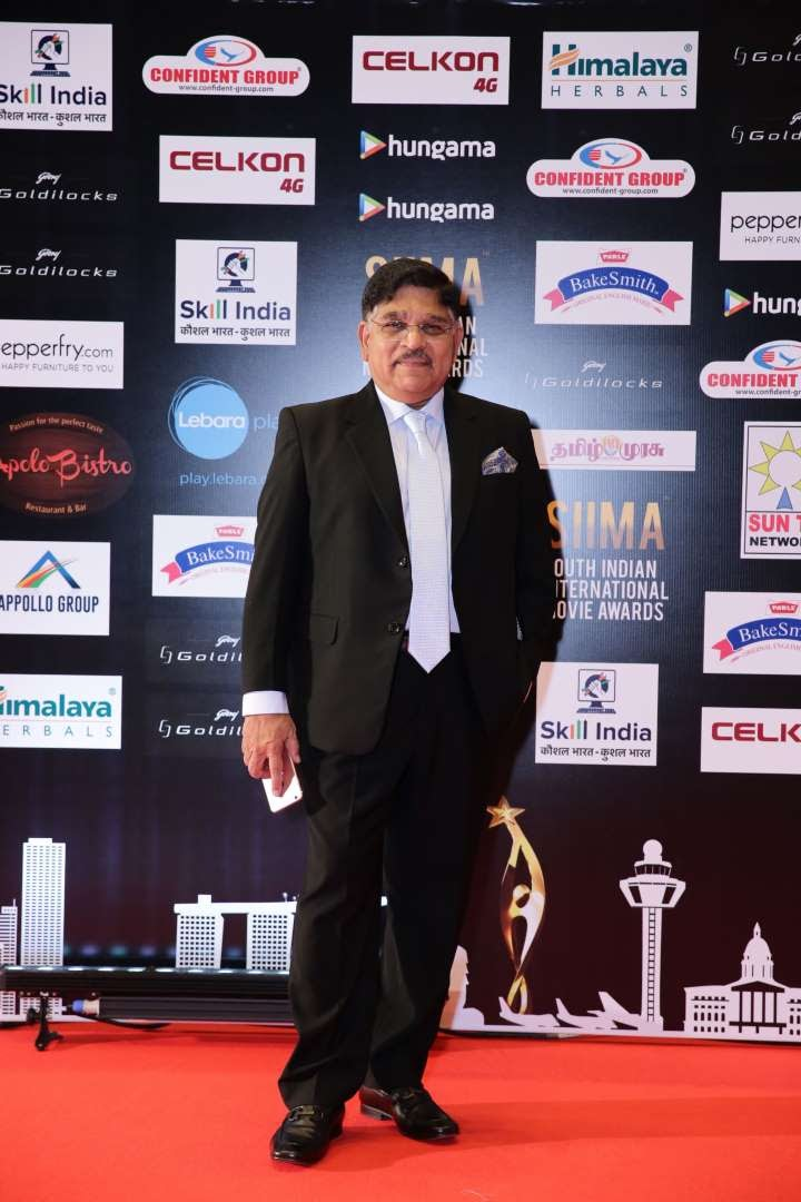 We spotted Telugu producer Allu Aravind at SIIMA