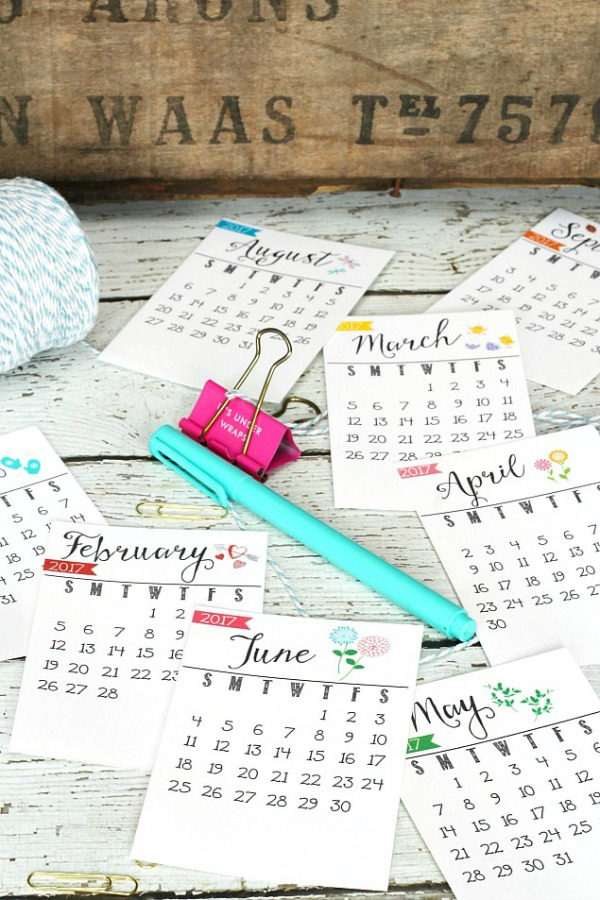 2017 printable calendar, organizing, printable calendar