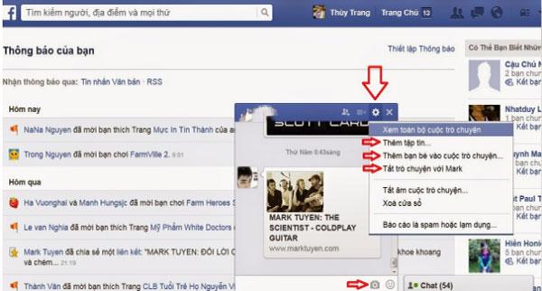 Them ban be vao cuoc tro chuyen tren facebook