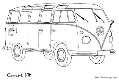 Kleurplaten Autobus.Kleurplaat Volkswagen