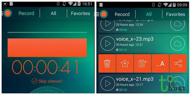Phần mềm ghi âm Android- Dictaphone - Máy ghi âm