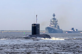 "Russian submarines hit the organization of the Islamic state ""isis"" in Syria with cruise missiles"