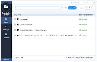 برنامج anvi folder locker لغلق الملفات برقم سرى اخر اصدار 2016