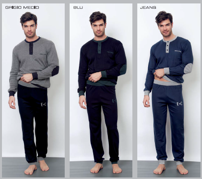 bielizna_wloska_męska_piżama_Enrico_coveri_rzymskie_zakupy