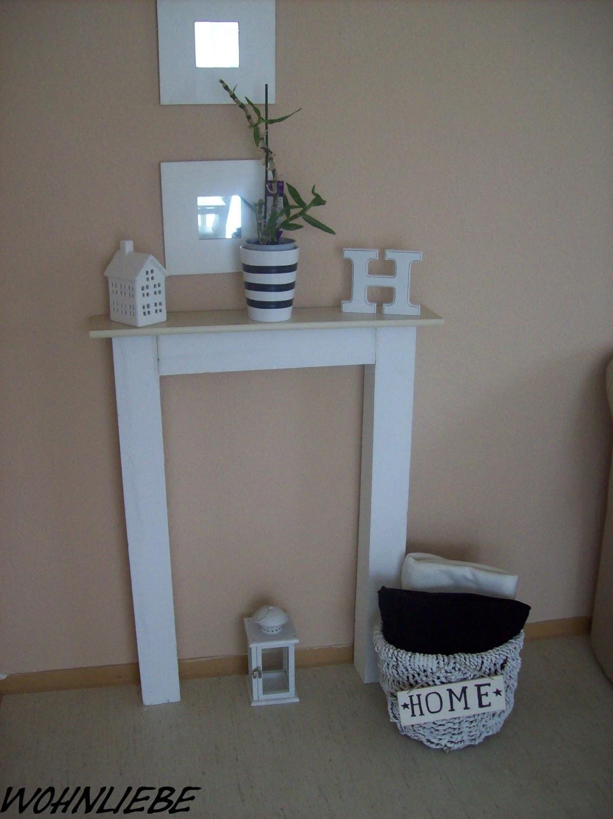 wohnliebe selbstgebaute deko kaminumrandung. Black Bedroom Furniture Sets. Home Design Ideas