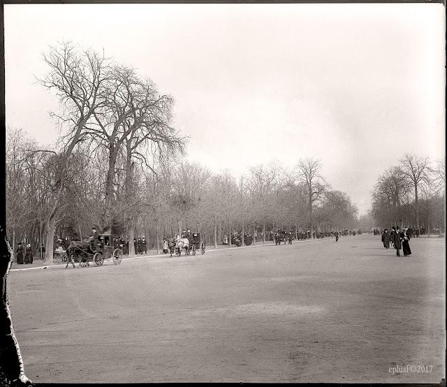 L'avenue du Bois-de-Boulogne (circa 1900) Paris, Arc de Triomphe, Foch