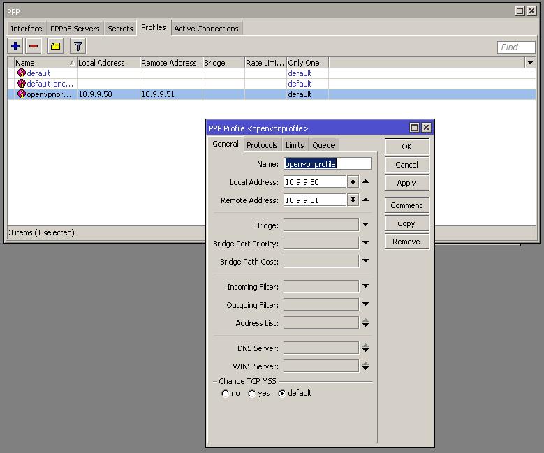 Assuntos de Redes e Afins: Mikrotik - Site to site OpenVPN