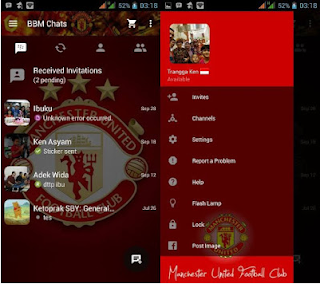 BBM Mod Tema Sepak Bola Manchester United V2.13.0.22 Apk  Gratis Terbaru