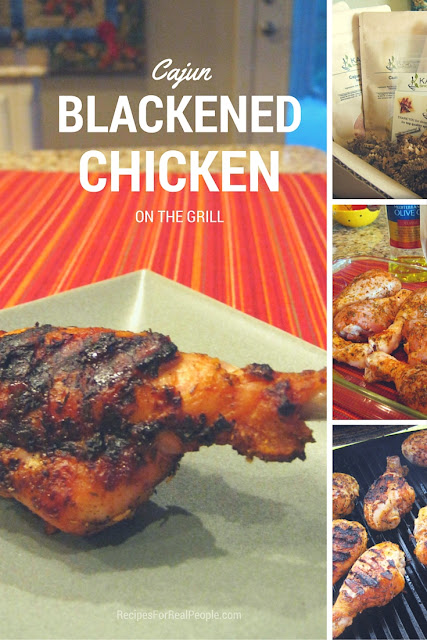 Chicken legs, drumsticks, seasoned with Cajun Blackened Seasoning make a delicious dinner on the grill. Here's the recipe.