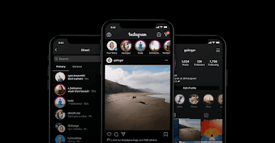 dark mode on instgram