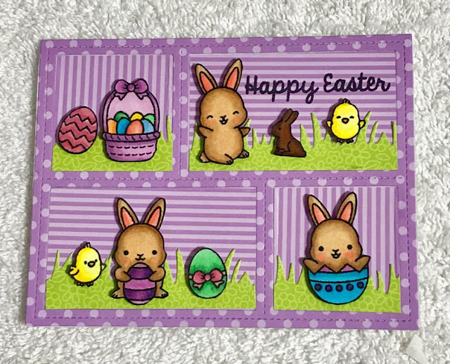 Sunny Studio Stamps: Chubby Bunny Customer Card Share by Cindy Genovia