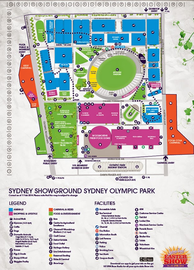 Royal Easter Show Map NSW RADIO AND COMMUNICATIONS   by Michael Bailey: SYDNEY ROYAL  Royal Easter Show Map