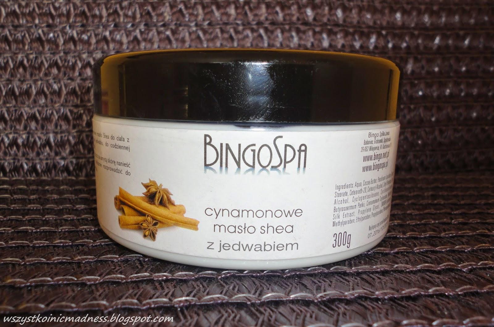 BingoSpa cynamonowe masło shea z jedwabiem