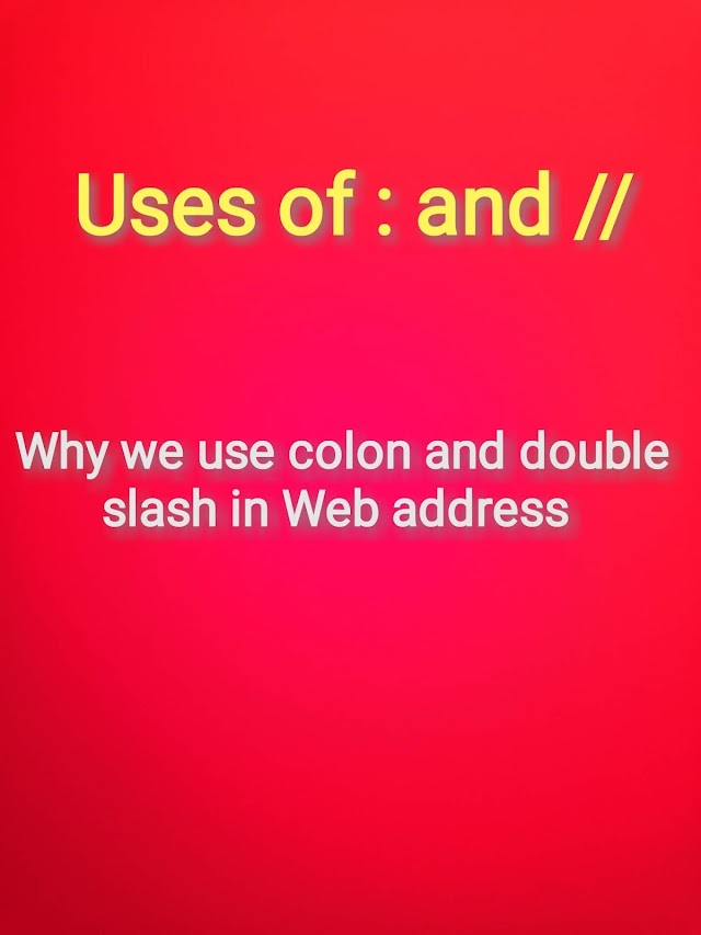 Why we use colon and slash in Web address