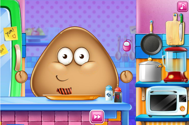 Pou als Koch Spiel  Kochspiele