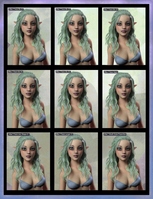 Mika 7 Morph Target Resource Kit for Genesis 3 Female