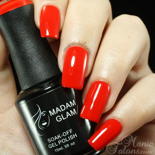 Madam Glam UV Gel 043 Fire Brick Red Swatch
