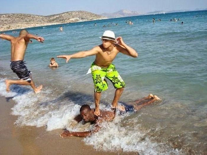 Fotos muy divertidas en la playa.