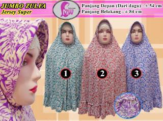 Jilbab jersey motif jumbo model terbaru rempel bawah